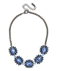 BaubleBar - Blue Sapphire Bud Necklace - Lyst