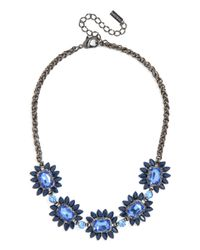 BaubleBar | Blue Sapphire Bud Necklace | Lyst