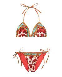Dolce & Gabbana | Pink Floral Print Bikini | Lyst