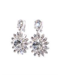 Dolce & Gabbana - Metallic Swarovski Crystal Earrings - Lyst