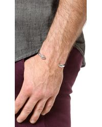 Eddie Borgo Metallic Two Cone Cuff for men