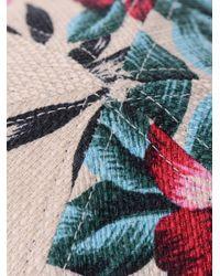 Eugenia Kim - Black Darlen Floral Print Leather Peak Cap - Lyst