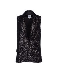 Halston | Black Sequined Vest | Lyst