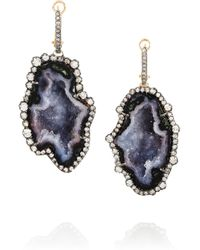 Kimberly Mcdonald - Black 18karat Rose Gold Geode and Diamond Earrings - Lyst