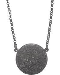 Larkspur & Hawk - Green Olivia Button Oxidized Sterling Silver Topaz Necklace - Lyst