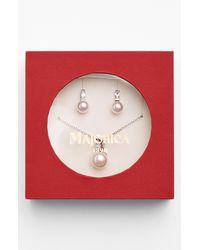 Majorica   White Pearl Earrings Necklace Set   Lyst
