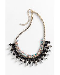 Panacea | Black Braided Necklace | Lyst