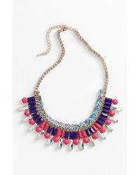 Panacea | Multicolor Braided Necklace | Lyst