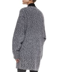 Rag & Bone - Gray Diana Wool-blend Sweater Coat - Lyst