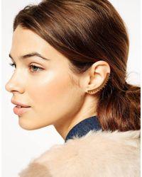 ASOS - Metallic Triangle Ear Cuff - Lyst
