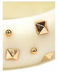 Adia Kibur | White Resin Stud Bracelet | Lyst