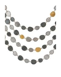 Gurhan - Multicolor Contour White & Dark Silver 24k Yellow Gold Four-layer Necklace - Lyst