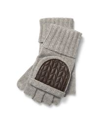 Ralph Lauren - Gray Wool-blend Fingerless Gloves - Lyst