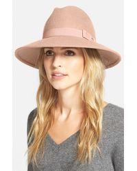 Halogen - Pink 'luxe' Felt Panama Hat - Lyst