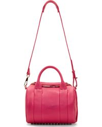 Alexander Wang | Flamingo Pink Metallic Leather Rockie Sling Bag | Lyst