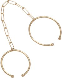 Loren Stewart - Yellow Gold Leash Rings - Lyst