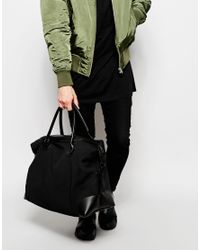 ASOS | Holdall In Black Scuba for Men | Lyst