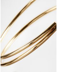 ASOS | Metallic Sleek Arm Cuff | Lyst