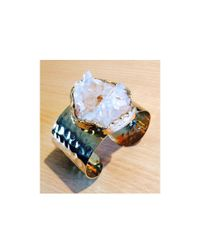 Julie Tuton Jewelry | Metallic Quartz Cuff | Lyst