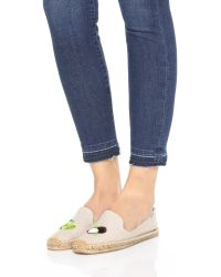 Soludos - Natural Lime & Coconut Smoking Slipper Espadrilles - Lyst