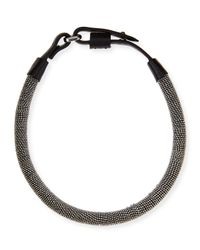 Brunello Cucinelli | Gray Monili Chain-Wrapped Necklace | Lyst