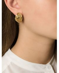 Burberry - Metallic Link Earrings - Lyst