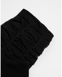 Ruby Rocks - Black 3 Pack Of Ruched Socks - Lyst