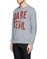 Paul Smith - Gray Text Print Sweatshirt for Men - Lyst