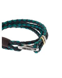 Paul Smith | Blue Leather Wrap Bracelet for Men | Lyst