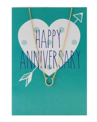 Lydell NYC - Metallic Horseshoe Pendant Necklace W/ Statement Card - Lyst