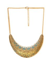 Forever 21 | Metallic Ancient World Crescent Necklace | Lyst