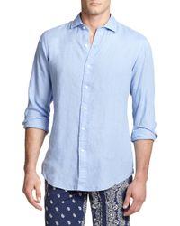 Polo Ralph Lauren - Blue Estate Linen Sportshirt for Men - Lyst
