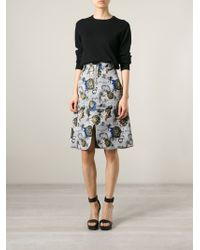 Opening Ceremony | Gray Palm Tree Print Skirt | Lyst