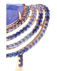 """Shawn Ames - One-Of-A-Kind """"Rainbow Four Row"""" Tanzanite And Blue Sapphires Ring - Lyst"""