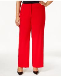 Calvin Klein Plus Size Dress Pants in Red - Lyst