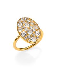 Elizabeth and James | Metallic Bassa Pavé White Topaz Ring | Lyst