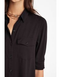 Forever 21 | Black Utility Shirt Dress | Lyst