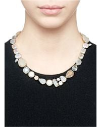 J.Crew - Multicolor Smoky Crystal Necklace - Lyst