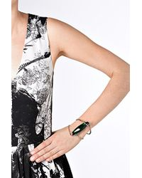 Delfina Delettrez - White , Stone Edge Bracelet - Green - Lyst