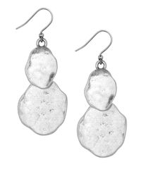 Lucky Brand | Metallic Hammered Double Drop Earrings | Lyst