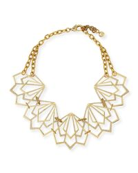 Lulu Frost | Metallic Portico Crystal Statement Necklace | Lyst