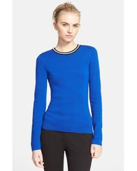 Michael Kors | Blue Cashmere Blend Sweater | Lyst