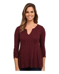 Lucky Brand | Multicolor Ditsy Daisy Top | Lyst