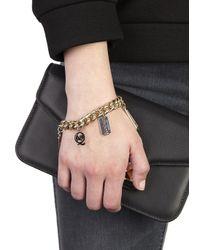 McQ - Metallic Gold Tone Charm Bracelet - Lyst