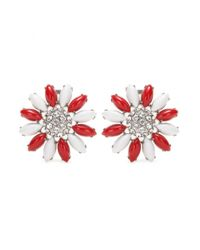 Miu Miu | Metallic Clip-on Earrings With Swarovski Crystals | Lyst