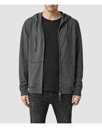 AllSaints - Gray Orate Hoody Usa Usa for Men - Lyst