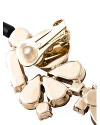 Marni - Metallic Strass Clip-on Earrings - Lyst