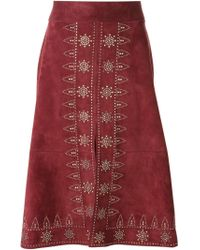 Valentino - Pink Studded A-Line Skirt - Lyst