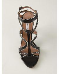 Tabitha Simmons - Black 'Jasmine' Strappy Sandals - Lyst