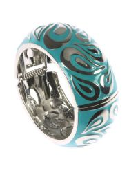 Indulgence Jewellery - Blue Large Turquoise Round Bangle - Lyst